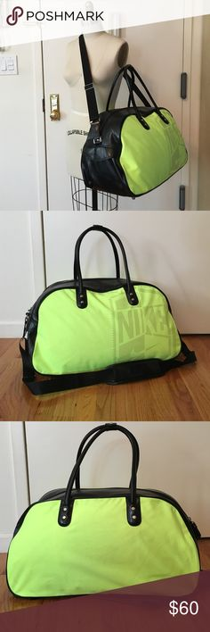 Neon nike gym bag This is a very gently used neon yellow-green Nike gym 69eff2e997653