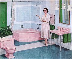 1957 American Standard Bathroom by American Vintage Home, via Flickr
