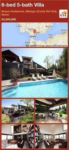 6-bed 5-bath Villa in Nueva Andalucia, Malaga (Costa Del Sol), Spain ►€2,200,000 #PropertyForSaleInSpain