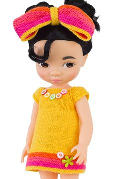 Knitting Pattern for Dress to Fit Disney Animators - Yellow Crayon - Knitting Pattern - Easy PDF Disney Toddler Dolls, Disney Dolls, Mulan Doll, Knit Fashion, Fashion Dolls, Disney Animators Collection Dolls, Disney Animator Doll, Knitted Dolls, Princesas Disney