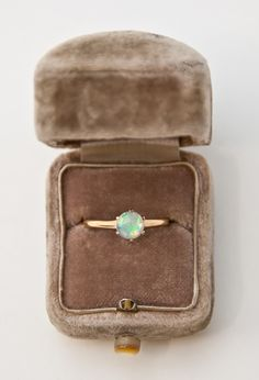 c. 1900 14K Gold Opal Ring.  I cannot even express how much I want this ring.