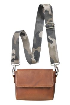 577d19a9ba07 Camo Shoulder Bag - Allow 4-5 weeks for delivery Cow Leather