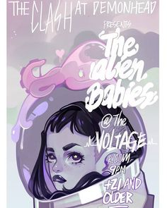 My goal is to one day be commissioned by my favorite bands and artists to make their concert posters  But for now, fake make-believe ones will do! Who wants to make a band called The Alien Babies with me? #digitalart