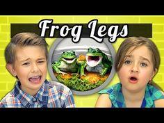 KIDS vs. FOOD #9 - FROG LEGS - YouTube