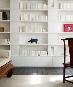 Modern Built In Bookshelves