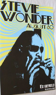 Stevie Wonder poster concert $9.84 #stevieWonder