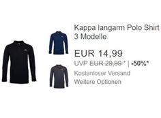 """Kappa: Langarm-Poloshirt für 14,99 Euro frei Haus https://www.discountfan.de/artikel/klamotten_&_schuhe/kappa-langarm-poloshirt-fuer-1499-euro-frei-haus.php Via Ebay ist jetzt ein Langarm-Poloshirt von Kappa für 14,99 Euro frei Haus zu haben – zur Auswahl stehen fünf Größen und drei Farben. Kappa: Langarm-Poloshirt für 14,99 Euro frei Haus (Bild: Ebay.de) Das Langarm-Poloshirt von Kappa mit Rabatt ist als """"Wow! des Tages"""" nur bis... #Poloshirt"""