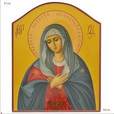 Икона с ликом Богоматери, Хохлома , арт. 0021274 - купить Иконы в магазине подарков РУСЬ ВЕЛИКАЯ