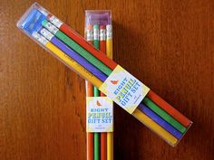8 Pencil Gift Set - Mix + Match! Over 20 to unique styles, with sharpener $ 12.00