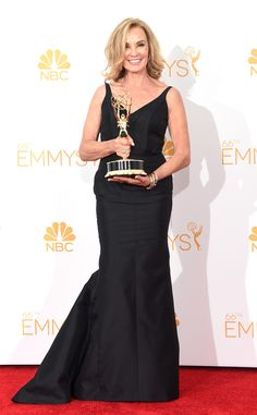 Jessica Lange from 2015 Emmy Nominees' Best Looks  In a black gown