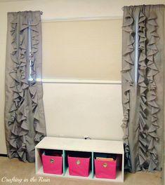 Ruffle Curtains (Circle Ruffles) | Crafting in the Rain