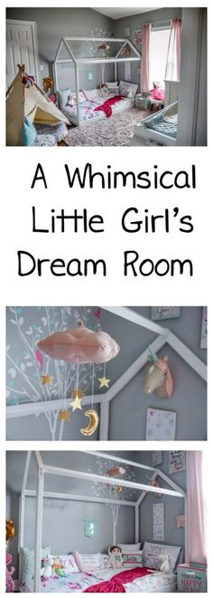 A Whimsical Little Girl's Dream Room -Lola's Big Girl Room Tour - Oh Happy Play - Unicorn Room - Mermaid Room - Dream kids room - floor bed - montessori style room