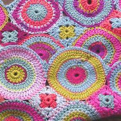 crocheted circles