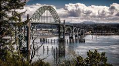 Yaquina Bay Bridge, Newport, OR, USA