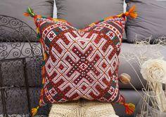 Moroccan Vintage Kilim Berber Pillow Cover Tassel Pom Pom Cushion   Home & Garden, Home Décor, Pillows   eBay!