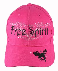 HORSE BASEBALL CAP HAT FREE SPIRIT WITH RHINESTONES BRAND NEW  3 2663dc725248