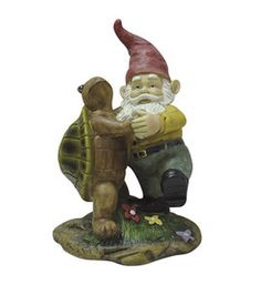 So cute! The dancing Gnome.For the yard or garden.