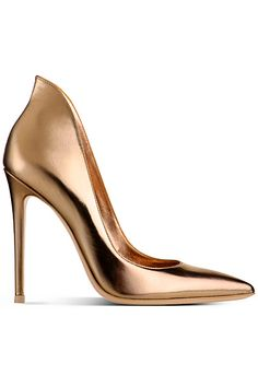 Gianvito Rossi - Shoes Like the upper heel part Shoe Boots, Ankle Boots, Shoes Heels, Gold Shoes, Gold Pumps, Metallic Shoes, Louboutin Shoes, Dream Shoes, Crazy Shoes