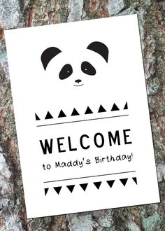 Printable Panda Party Pack by LittleOakInk on Etsy