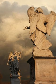 "blissfulinallthings: "" (via Sacred Art / ARIA) "" Cemetery Angels, Cemetery Statues, Cemetery Art, Angel Statues, Angels Among Us, Angels And Demons, Angels In Heaven, Heaven On Earth, Entertaining Angels"