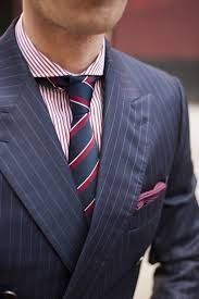 navy pinstripe suit shirt and tie - Google Search