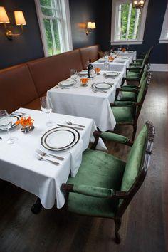 Dining room of the Kemble Inn in the Berkshires of Massachusetts