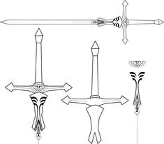 Princess-zelda-sword outline by markomedina51.deviantart.com on @DeviantArt