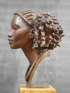 Darbaud_sculptures_ethiopienne_02 Sculpture Head, Bronze Sculpture, Wood Sculpture, Wire Sculptures, Abstract Sculpture, Giger Art, Hr Giger, Art Beauté, Anatomy Sculpture