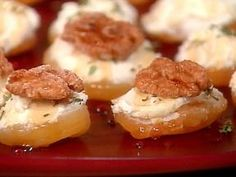 I LOVE this recipe.  I used Honey goat cheese and candied walnuts to make it sweeter.  You can't stop at just one.  They are so GOOD!