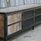 Vintage Industrial Media Console/Credenza. Rustic. Reclaimed Wood.