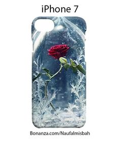 Beauty and The Beast Rose Vase iPhone 7 Case Cover Wrap Around