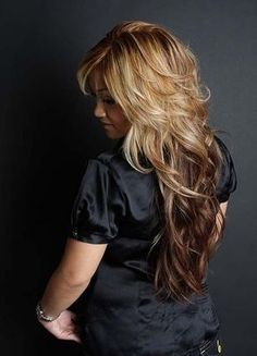 long hair short layers by candice