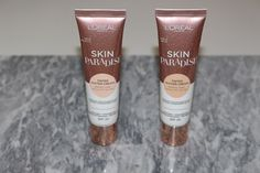 L'Oreal Paris Skin Paradise Tinted Water-Cream Review and Swatches Loreal Skin, Glass Skin, Loreal Paris, Glowing Skin, Swatch, Foundation, Paradise, Cream, Bottle