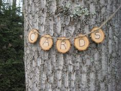 Rustic Wedding Decor Cards Wood Slices