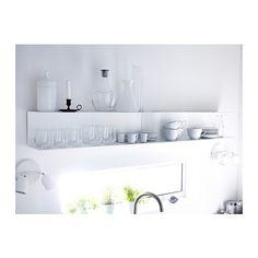 BOTKYRKA Seinähylly, valkoinen valkoinen 80x20 cm