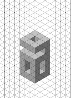 Letter C D Shadow Test Isometric Paper Much Like The Letter A