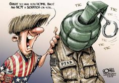 Nearly 20 percent of the more than 2 million troops who have served in Iraq and Afghanistan have been left with mental health conditions .. (Ref)