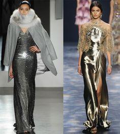 Блестящие платья осень-зима 2016-2017