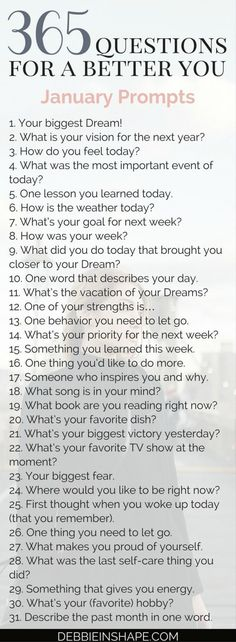 365 Questions For A Better You: the January Edition - Debbie Rodrigues 365 Questions, Journal Questions, This Or That Questions, Life Savers, Feeling Stuck, How Are You Feeling, Becoming A Better You, Journal Writing Prompts, January Journal Prompts