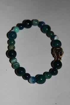 Green Beaded Buddha Bracelet