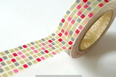Pretty Colorful RED GRID Japanese MT Masking Tape - SINGLE $4.00