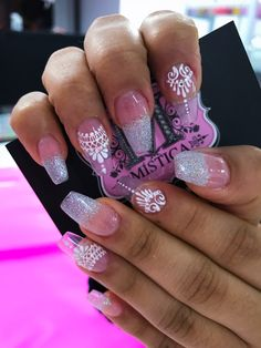 Uñas arabescos Bling Nails, Winter Nails, Cute Nails, Nailart, Mandala, Boho, Ideas, Nice Nails, Nail Art