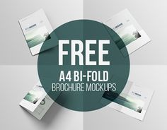 Free A4 bifold brochure mockup tempalte that you can edit via psd smart objects.