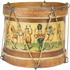**Excellent antique condition: kid gut drum heads are original and in tact, rope lacing and hardware are Metal Toys, Tin Toys, Wooden Toys, Victorian Dollhouse, Modern Dollhouse, Miniature Dolls, Miniature Houses, Reborn Dolls, Reborn Babies