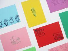 Tampons vintage floraux et végétaux / Vintage floral stamps