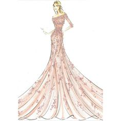 Estilistas recriam os vestidos das Princesas Disney para a Harrod's ❤ liked on Polyvore