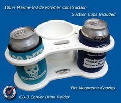 "Corner Beverage/Cup/Drink Holders- 8 5/8"" x 8 5/8"" x 4"" -CD3"