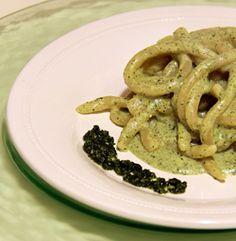 pici con pesto di foglie di carota #italianfood #recipes #pasta #veggie