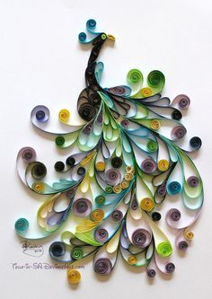 colorful birds, funny crafts, art, quill peacock, quilling, papers, beauty, paper crafts, paper beauti