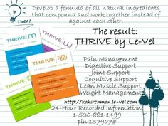 Getting healthy with all natural products! It's a newer company, only 19 months old & still growing! Sign up free & Check it out! https://kakirchman.le-vel.com/Login?ReturnUrl=%2fAccount